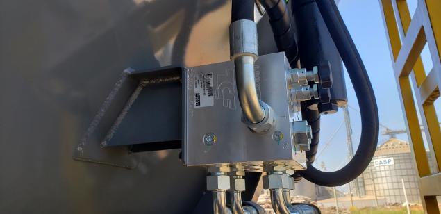 Bloco Fluxo óleo com regulagens de velocidade